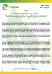 A&P Press Release following webinar on 13/11 on Carbon Farming