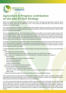 Agriculture & Progress contribution on the new EU Soil Strategy